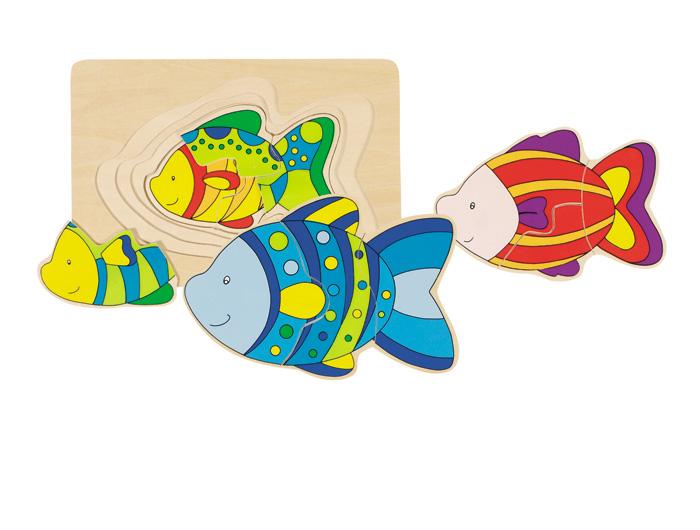 Игра Пазл 4 слоя Рыбка.