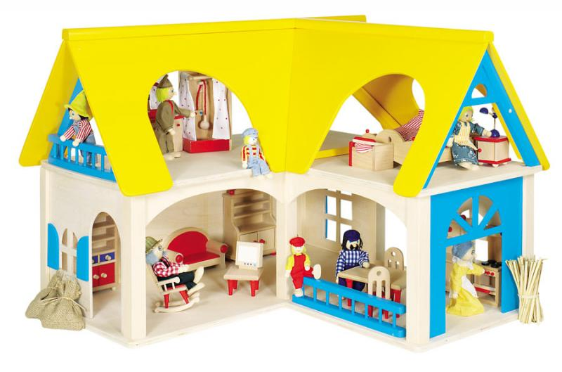 Как сделать домик двухэтажный для кукол